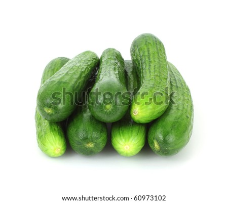 Stack Small Seedless Cucumbers