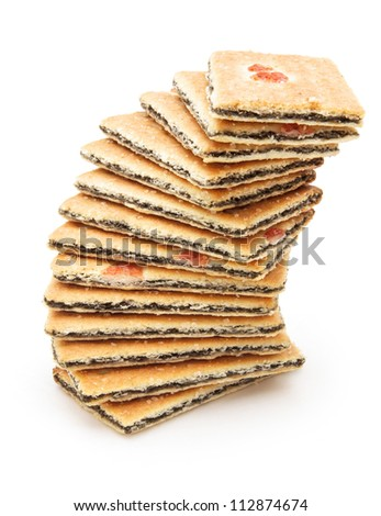 stacked biscuits with grape filling