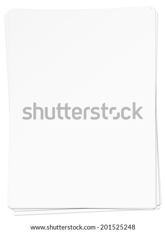 Stacked Blank Paper - stock photo