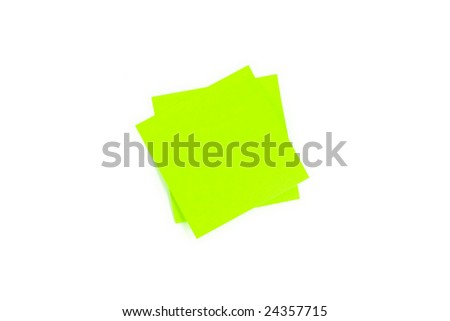 Stacked Blank Post-It Note Stuck With Shadows - stock photo