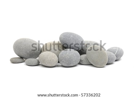 Stacked of natural rounded stones