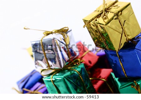 stacked presents 2 - stock photo