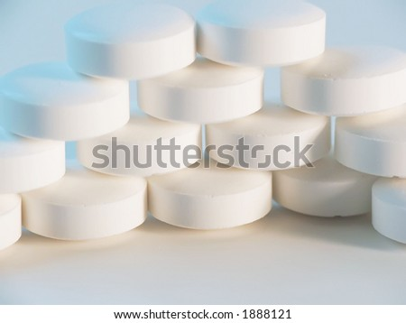 stacked wall of pills