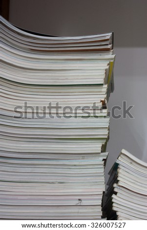 stacks of  old magazine