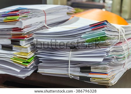 Stacks of Papers - stock photo