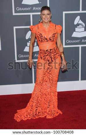 Stacy Ferguson at the 54th Annual Grammy Awards, Staples Center, Los Angeles, CA 02-12-12