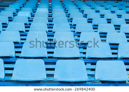 Stadium and blue seat - stock photo