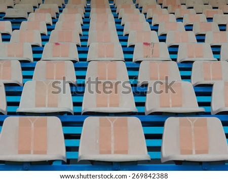 Stadium and cream seat - stock photo