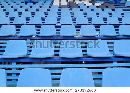 Stadium and cream seats - stock photo
