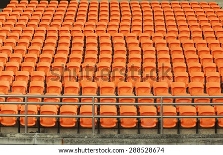Stadium and seats  vintage color