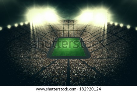 Stadium at night - stock photo