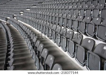 Stadium black chair pattern