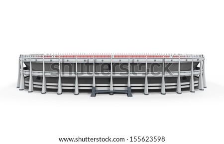 Stadium Building Isolated - stock photo