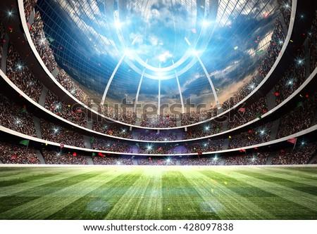 stadium 3d - stock photo
