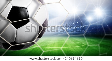 Stadium Goal - stock photo