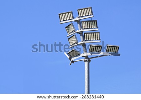 stadium led light - stock photo
