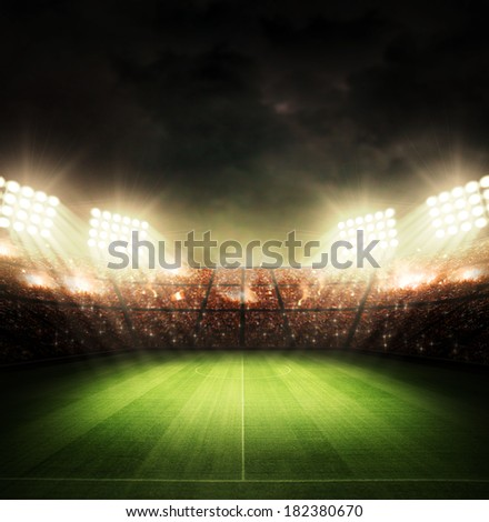 Stadium light - stock photo