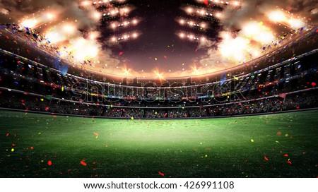 stadium light 3d - stock photo