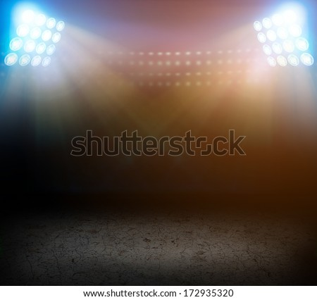 Stadium lights. - stock photo