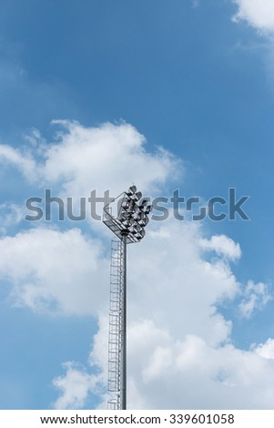 Stadium lights out door