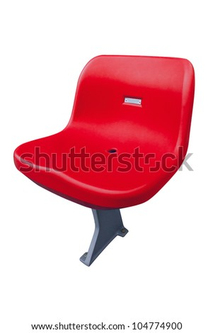 Stadium seat on white background - stock photo