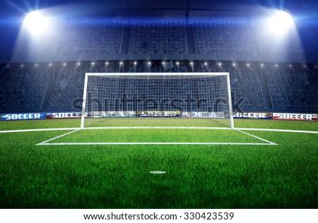Stadium soccer goal football goal stock illustration 330423539 stadium soccer goal or football goal reheart Images