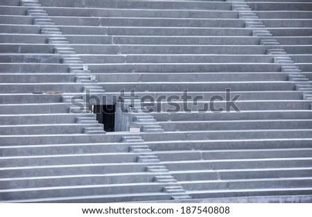 stadium stairs - stock photo