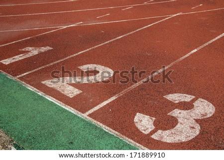 Stadium track - stock photo