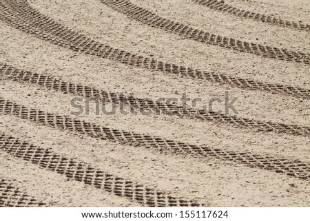Stadium with sand coated for horse training