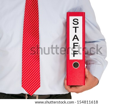 Staff - stock photo