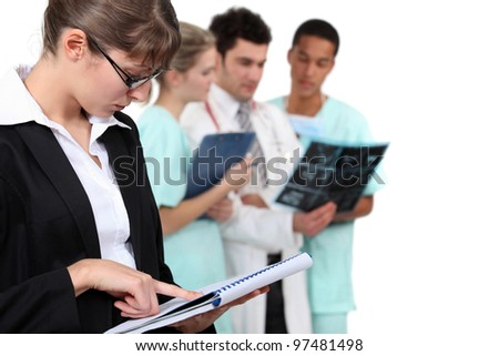 staff in hospital - stock photo