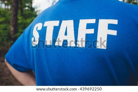 Staff - on t-shirt - stock photo