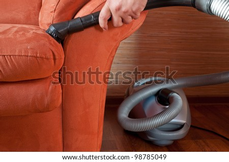 Staff produces upholstered furniture cleaning