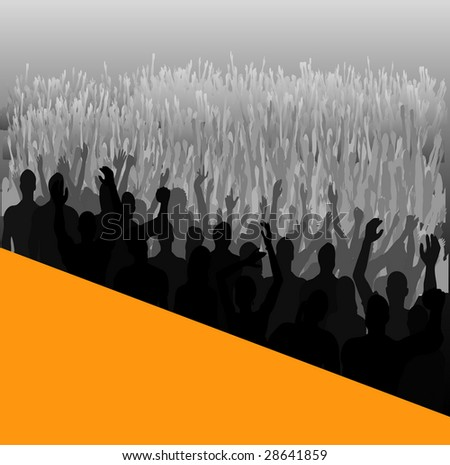 Stage Audience Bitmap Background - stock photo