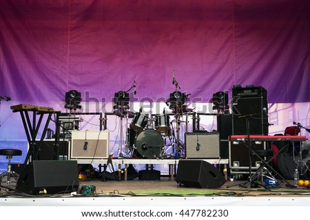 Stage before concert - stock photo