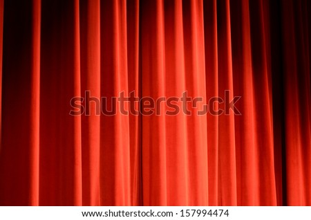 Stage Curtain - stock photo