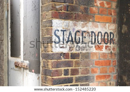 Stage door entrance of an old theater - stock photo