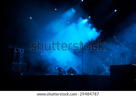 Stage In Lights 4 - stock photo