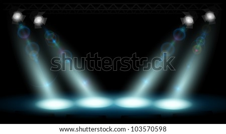 stage lighting - stock photo