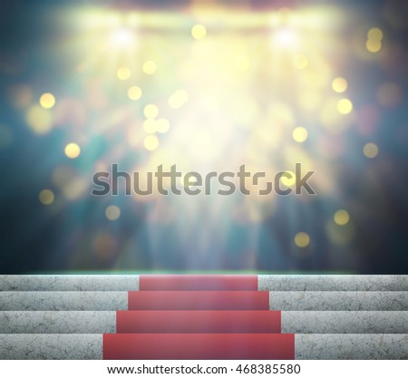 Stage Lighting Background 3D rendering.