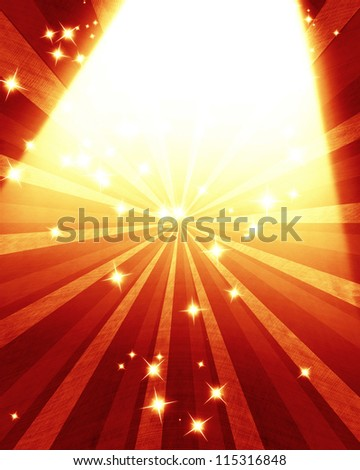 Stage lights with room for an added object - stock photo