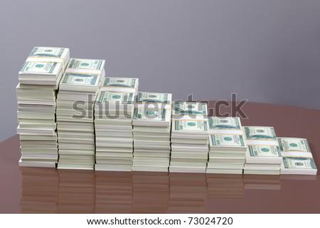 stage of money - stock photo