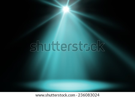 stage spot lighting background green