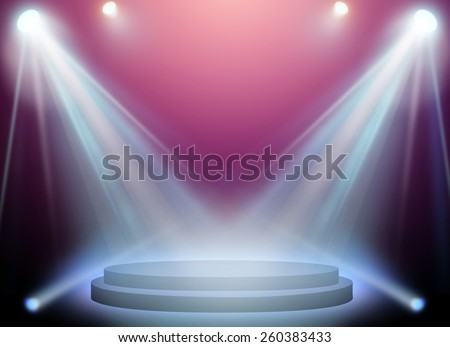 stage spot lighting over pink background.
