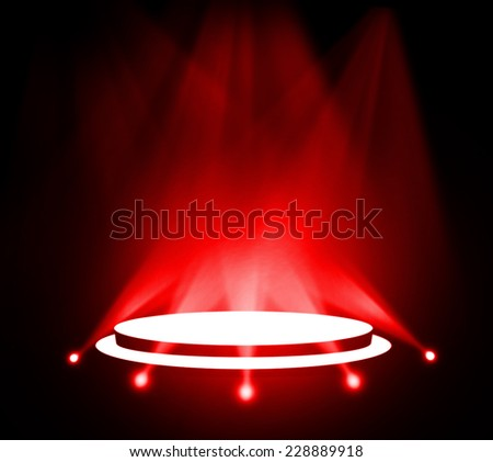 Stage theater on red background  - stock photo