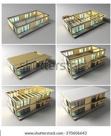 Stages Of Construction . Stages Of Building A House On The Fast Technology  Panels