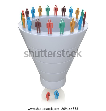Stages of consumer interest. Sales Funnel  - stock photo