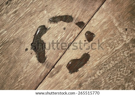 Stain of water - stock photo