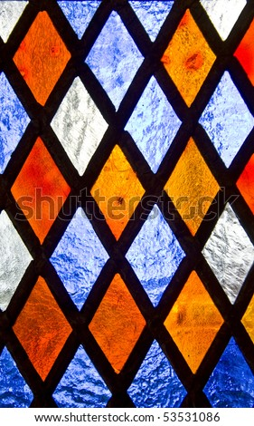 Stained glass background - stock photo