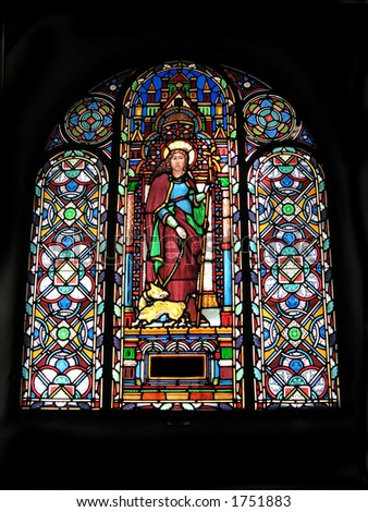 stained-glass church window